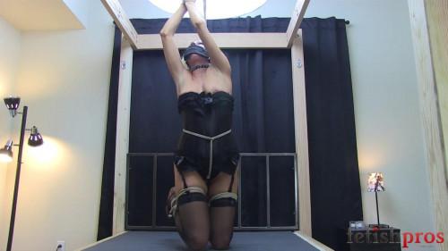 bdsm Jessica Struggling in Rope Bondage - HD720p