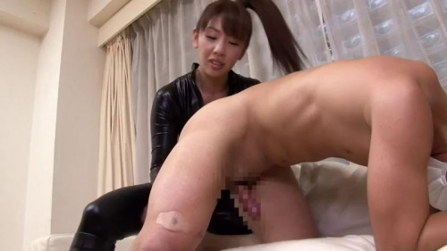 Femdom and Strapon My Japanese dominant at me bitch