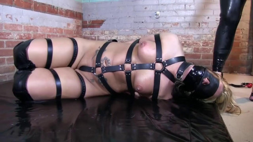 bdsm Hard bondage, domination, hogtie and torture for a hot blonde