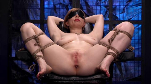 bdsm Blonde Restraint Chair and Anal Transformer Aid Liana Nicole