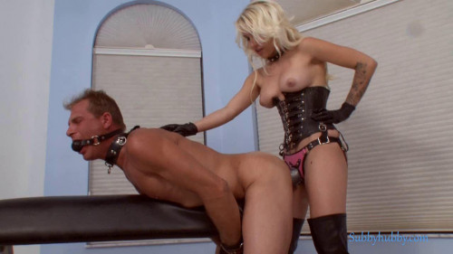 Femdom and Strapon Fucked to tears