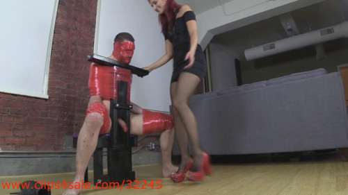 Femdom and Strapon New Spikes Rip Through Your Hard Cock Flesh