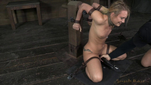 bdsm AJ Applegate shackled and blindfolded