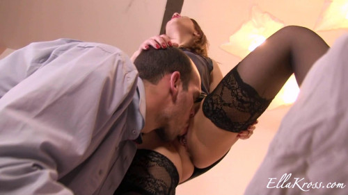 Femdom and Strapon Making My Slave Eat My Pussy