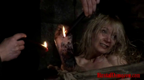 bdsm Prostitute Endures Wax Foot Torment - BrutalDungeon