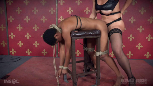 bdsm Kahlista Rope Bound, and Fucked From Both Ends For Live BaRS Show