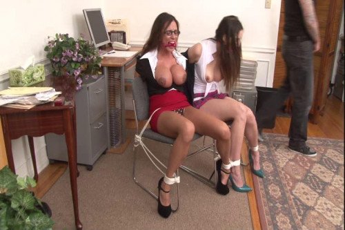 bdsm Angelica and Ariella - Office Bondage Captives