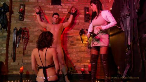 Femdom and Strapon slave scene 34