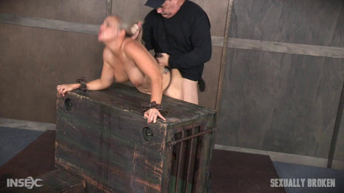 bdsm Angel Allwood Bent Over and Roughly Fucked In Belt Bondage