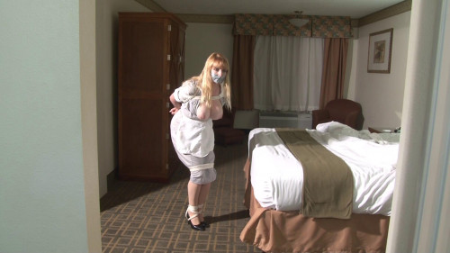 bdsm Bound and Gagged - Big-Boob Hotel Maid Lorelei Hopping in Bondage