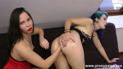 Fisting and Dildo Ass fisting two girls (2014)