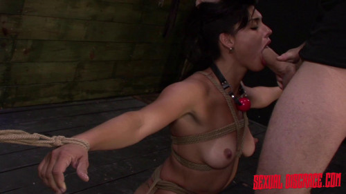 bdsm First Rope Bondage Slave Training Session