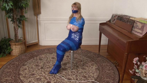 bdsm Bound and Gagged - Orgasm in Mummification for Lorelei