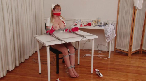 bdsm Gagging Nurse Boobie Part 1 - Chair Bondage and Orgasm for Lorelei