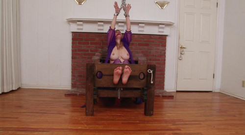 bdsm BigTit Barefoot Harem Slave in Stocks Chains and Manacles - Lorelei Part 2