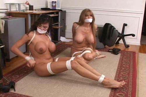 bdsm Bound and Gagged - Office Trouble Part 3 - Darla Crane and Ariella Ferrera
