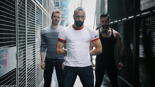 The trio Alberto, Teddy and Valentin