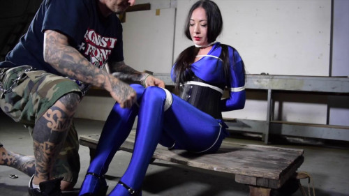 bdsm Tight bondage, hogtied and strappado for hot asian girl