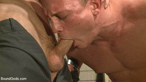 Gay BDSM Enhanced Interrogation Detained Stud Faces a Horny, Sadistic Agent