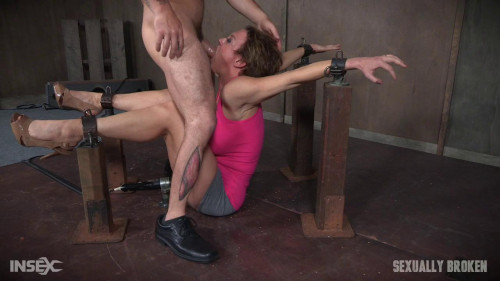 bdsm Dee Williams Shows Off Amazing Cock Sucking Skills in Bondage and is Vibrated to Multiple Orgasms