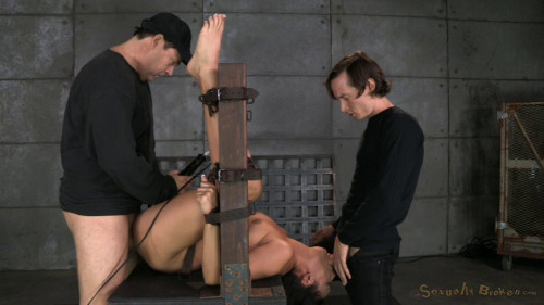 bdsm Bound Paisley Parker Roughly Fucked And Throat Trained By Hard Cock