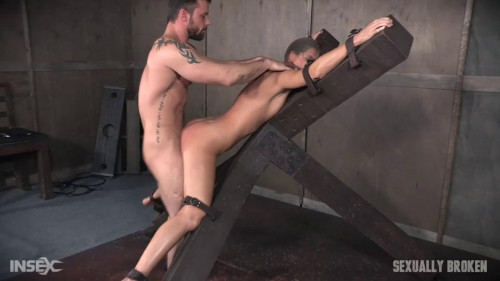 bdsm Hot MILF India Summers is strapped to and X frame, hooded, gagged, and brutally fucked