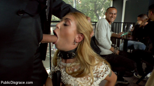 bdsm Busty Blonde Isabella Clark Public Double Penetration - Part 1