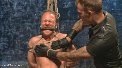 Gay BDSM Pervy Gym Teacher Disciplined by His Superior