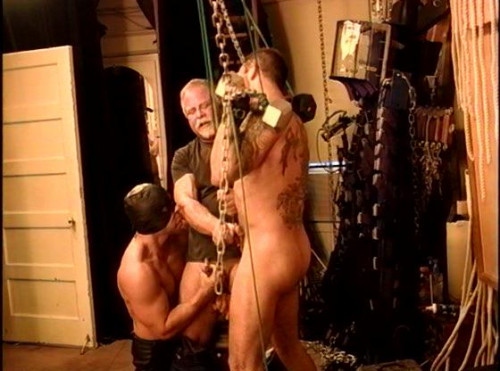 Gay BDSM BDSM party with bondage