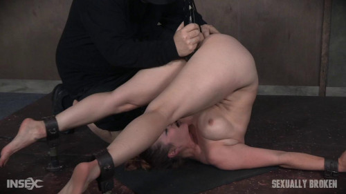 bdsm Bella Rossi is brutally fucked while bound in a extreme pile driver, huge cock massive orgasms