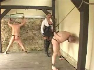 Femdom and Strapon Lady Asmondena - Stormy Day Of Working Slaves