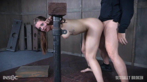 bdsm Part 2 Nora Riley gets spit roasted, cocks from both sides, made to cum over and over.