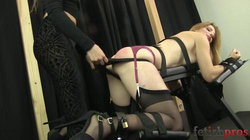 bdsm Missy Spanks Amber on Bench - HD720p