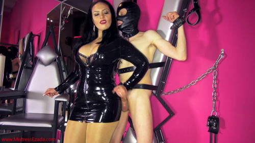 Femdom and Strapon I will teach you self-satisfaction, you freak