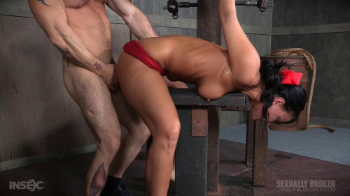 bdsm London River Struggles In Bondage While Being Fucked, Swallowing Cock and Cumming