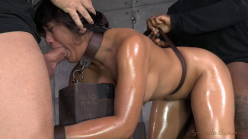 bdsm Hot Filipina Mia Li is Bound, Oiled, Brutally Face Fucked and drilled with cock