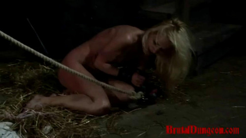 bdsm Witch Romina Endures Rope Suspension Part 2 - BrutalDungeon