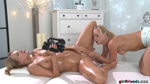 Fisting and Dildo Angel Piaff, Cristin Caitlin Blonde babe's erotic fisting massage (2016)