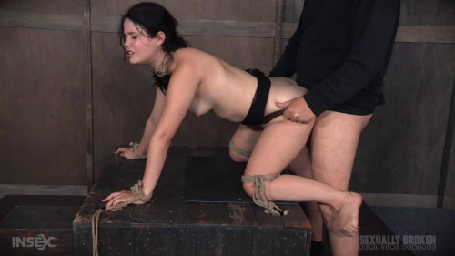bdsm Yhivi Tied to Box and Fucked From Both Ends By Couple (2016)