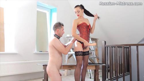 Femdom and Strapon Anita Sparkle - Cruel Mistress