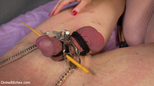 Femdom and Strapon Cherry Torn Beats Sleazy Porn Producer Down