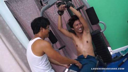 Gay BDSM Idol Tickled On The Gym