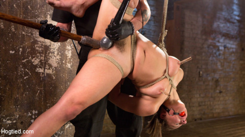bdsm Masochistic Pain Slut in Bondage, Tormented, and Used for Her Holes