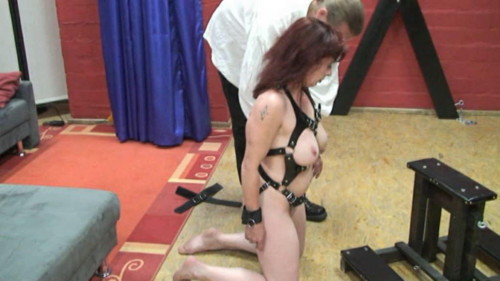 bdsm Crude crucifixion of A redhead