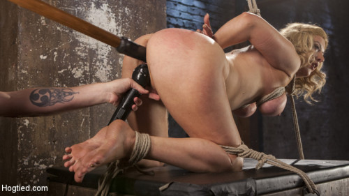 bdsm Cherry Torn Returns To Hogtied