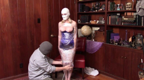 bdsm Bound and Gagged - Mummification in Packing Tape - part 1 - Jon Tapes Lorelei