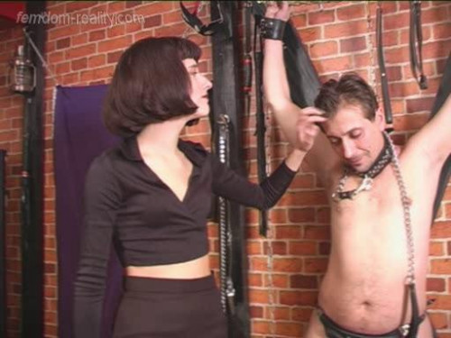 Femdom and Strapon Forgiveness after violent punishment