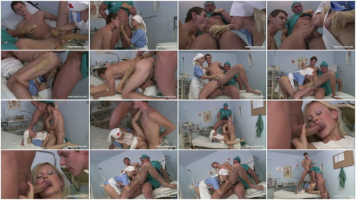 Kathy Sweet is a Naughty Nurse who Helps the Doctor Seduce a Patient Bisexuals