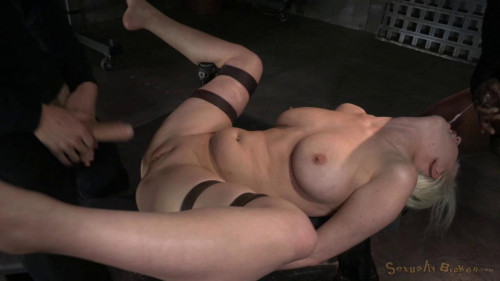 Busty blonde Cherry Torn BDSM