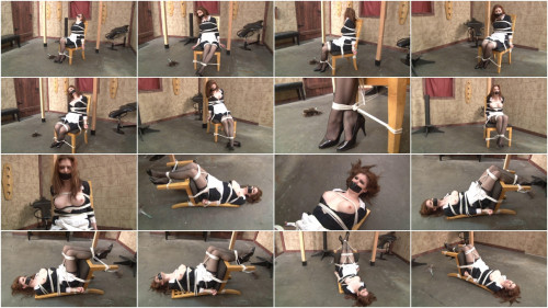Bound and Gagged – Maid Bound in Dungeon – Candle Boxxx